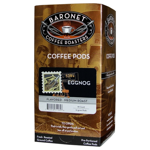 Baronet Eggnog Flavored Coffee Pods